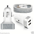 2 IN 1 iPHONE CAR CHARGER + GENUINE USB CABLE CHARGE FOR iPhone 6 Plus 5 5C 5S