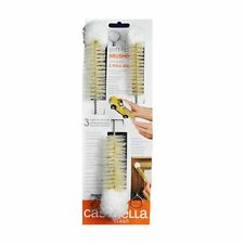 Casabella Soft Tip Bottle Brushes - Set of 3 - Small, Medium & Large