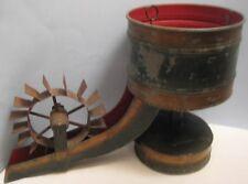 Very Rare Antique Zinc & Copper Mechanical Water Wheel Toy / School Model 1800s
