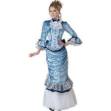 NEW! ELITE VICTORIAN LADY S Deluxe Women's InCharacter Blue Mary Poppins Costume