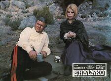 BRIGITTE BARDOT SHALAKO 1968 VINTAGE LOBBY CARD #1