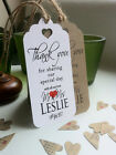 Thank You For Sharing our Special Day Personalised Wedding Tags - Red Heart Lg