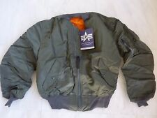 MADE IN USA MA-1 ALPHA INDUSTRIES USAF XL Pilot Bomber Flight Jacket Genuine