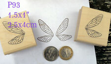 P93  butterfly wings rubber stamps wm