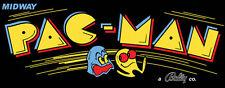 Pacman Black Reproduction Arcade Marquee Header