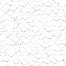 Storybook Lane White/Pink/Purple Andover Fabrics 100% Cotton Quilt Shop Fabric