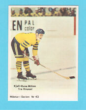 Kjell Rune Milton Team Sweden Tre Kronor 1970 Swedish Hockey Card #43
