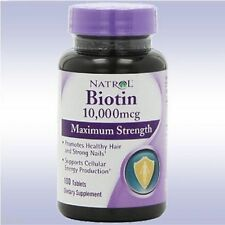 NATROL BIOTIN 10000 MCG MAXIMUM STRENGTH (100) b vitamin hair skin nails