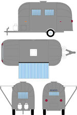 GREENLIGHT PRE-ORDER 1:64 SHASTA 16' AIRSTREAM BAMBI TRAVEL TRAILER