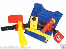 New Fireman Sam utility belt set including torch, walkie talkie, jacket & axe 3+