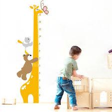 New Removable Cartoon Giraffe Children Kid Growth Height Chart PVC Wall Sticker
