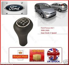 FORD Focus mk1 98-05 GEAR Shift KNOB 5 Velocità Stick Cover in Pelle Nera