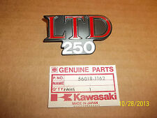 KAWASAKI KZ250 NOS OEM LEFT OR RIGHT SIDE COVER EMBLEM KZ 250  1980-1981