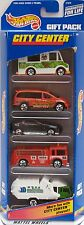 HOT WHEELS 1998 GIFT PACK CITY CENTER EXPRESSO STOP METRO RECYCLE  5 CAR PACK