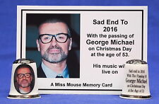 Sad End To 2016 With The Passing of George Michael China Thimble+ Card B/177