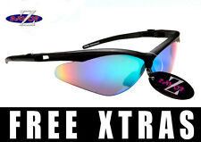 Rayzor UV400 Ski Skiing Cycling Cricket Golf Sports Wrap Sunglasses RRP£49 (x)
