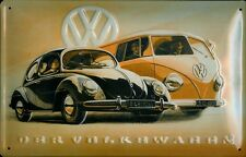 VW Volkswagen Käfer & Bus T1 Blechschild Schild Blech Metall Tin Sign 20 x 30 cm