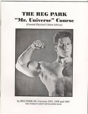 The Reg Park Mr Universe Weight Training Course General Physical Culture Advice