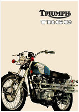 TRIUMPH Poster TR6 TR6C Tiger 1971 1972 Suitable to Frame