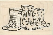 """Puddle Boots"" Rubber Stamp by Stampendous"