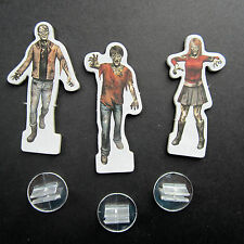 NEW Dead of Winter Game Parts - 3 Zombie Standees with plastic stand
