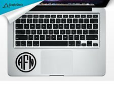 Monogram Track Pad Trackpad Laptop Mac Macbook Decal Sticker Name Initials Vinyl
