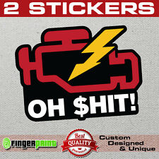 CHECK ENGINE LIGHT sticker decal JDM funny Nismo Honda VTEC Fail VW KIA Audi OBD