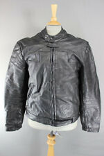CLASSIC BUFFALO BLACK LEATHER BIKER JACKET 42 INCH