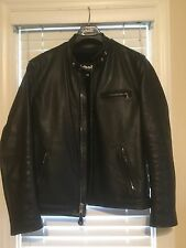 Schott Classic Racer Leather Motorcycle Jacket-Size 42 Long