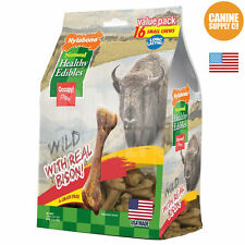 Nylabone Healthy Edibles Wild Bison Bone Dog Treats Mouth Watering Flavors 16Ct