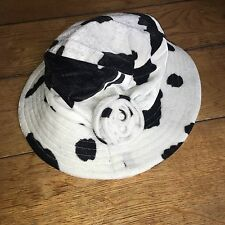 Gorgeous Velvet Cow Print Hat, Small