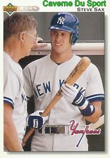 358 STEVE SAX NEW YORK YANKEES  BASEBALL CARD UPPER DECK 1992