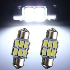 2x 31mm C5W 5630 LED 6 SMD Lámpara Canbus Festoon Coche Interior Dome Map Light