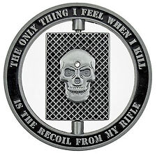Sniper One Shot One Kill Spinner Military Challenge Coin