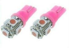 2X T10 194 501 W5W 5 SMD 5050 LED Wedge Light Interior Bulbs License Plate Pink
