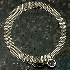 "Curb 035-22"" 1mm 2.4 Gram Italian Link .925 Sterling Silver Chain """