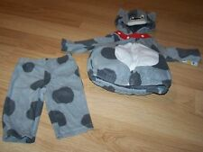 Infant Size 3-6 Months Carter's Gray Spotted Puppy Dog Halloween Costume New Tag