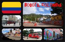 BOGOTÁ, COLOMBIA - RECUERDO ORIGINAL IMÁN DE NEVERA - BANDERAS / MONUMENTOS