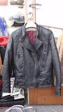 De Colección Chaqueta de Moto Cuero Negro Lobo Talla 34 XS de Motociclista Punk Rock