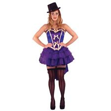 AMSCAN SEXY PURPLE BURLESQUE SHOW GIRL PURPLE COSTUME SIZE M 10-12 CHRISTMAS
