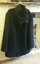 Mens Cashmere Wool winter coat jacket Designer Douglas the business 40R Black