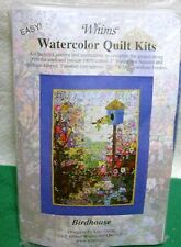"Whims Watercolor Quilt Kits Bird House Quilting Supplies 25-1/2 "" by 16-1/2"""