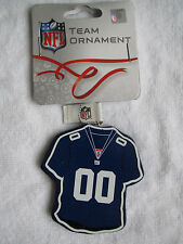 RARE NY NEW YORK GIANTS FOOTBALL JERSEY ORNAMENT CHRISTMAS TREE HOLIDAY GIFT