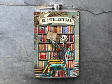 FD399 -El Intelectual Stainless Steel Flask 8oz.