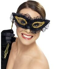 Masquerade Ball Fancy Dress Eye Mask Face Eyemask Fastidious Black by Smiffys.