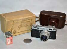 "30% OFF! EARLY RUSSIAN USSR ""FED 2"" camera + Industar-26m lens + FILM (ITEM №26)"