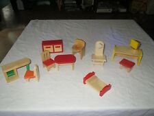 WOOD DOLL HOUSE FURNITURE ?PLAN TOYS, ?RYAN'S ROOM, ?Melissa and Doug (D)