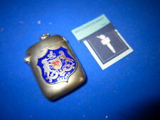 OXFORD GLASS ENAMEL COAT OF ARMS MATCH HOLDER VESTA CASE MATCH SAFE STRIKER