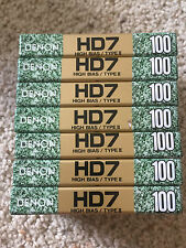Set of 7 New Sealed Denon HD7 100  Cassette Tape Made in Japan