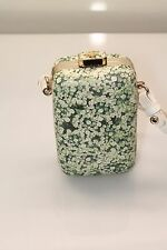 Tory Bursh HANDBAG Queen Anne's Lace Leather Minaudiere Clutch